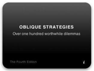 ObliqueStrategies