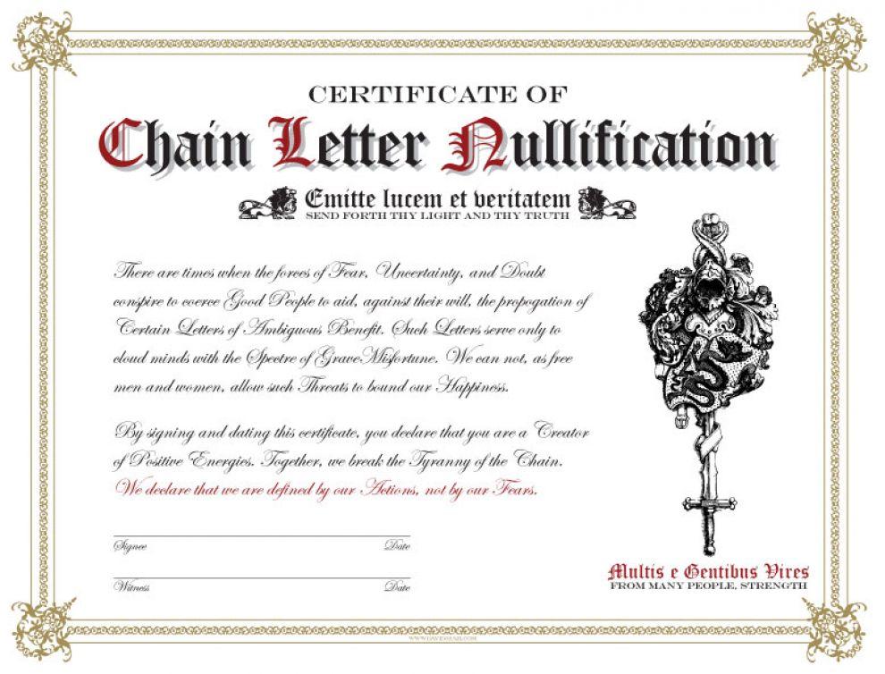 TheCertificateofChainLetterNullification
