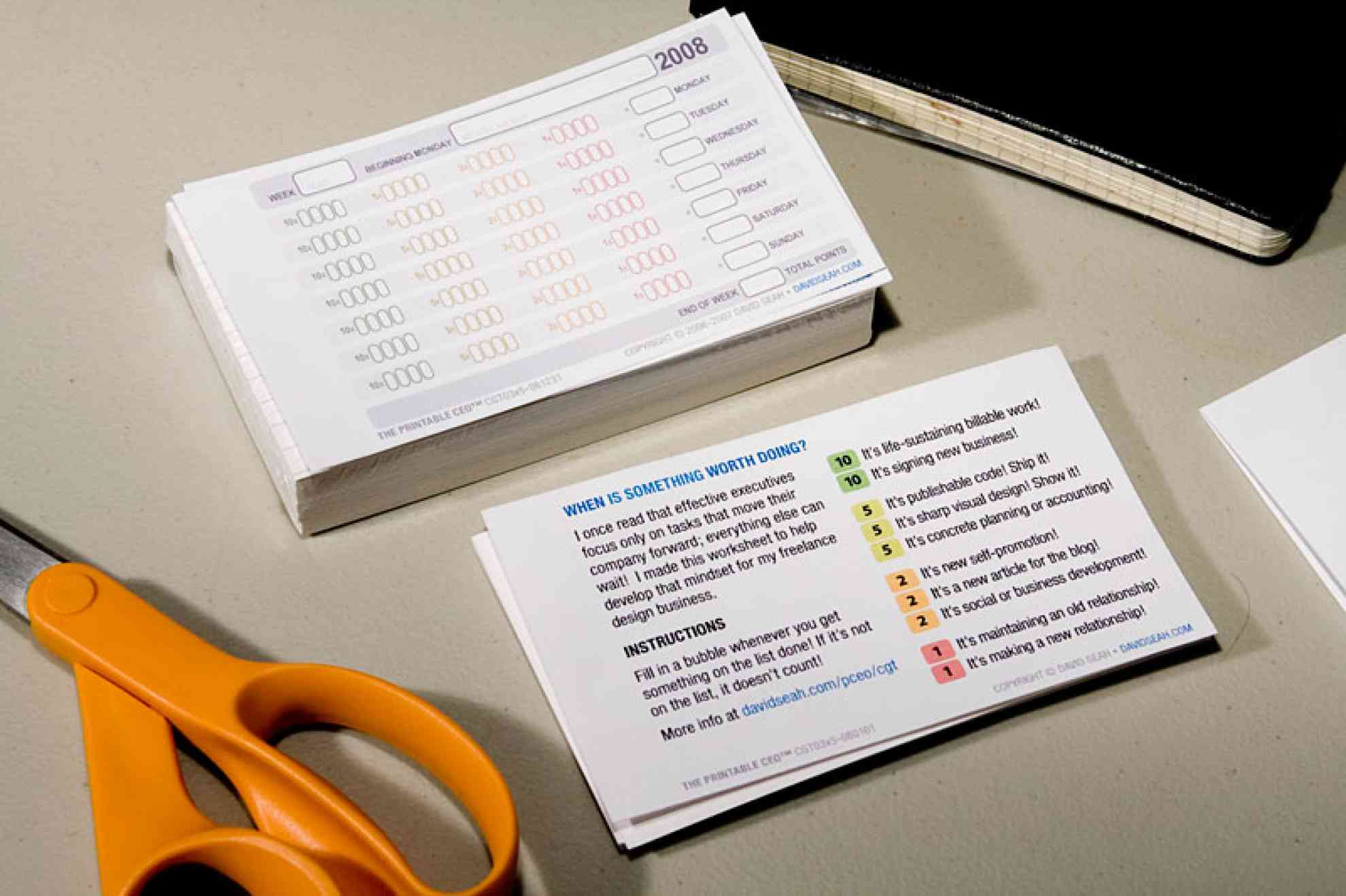 Index Card Formats