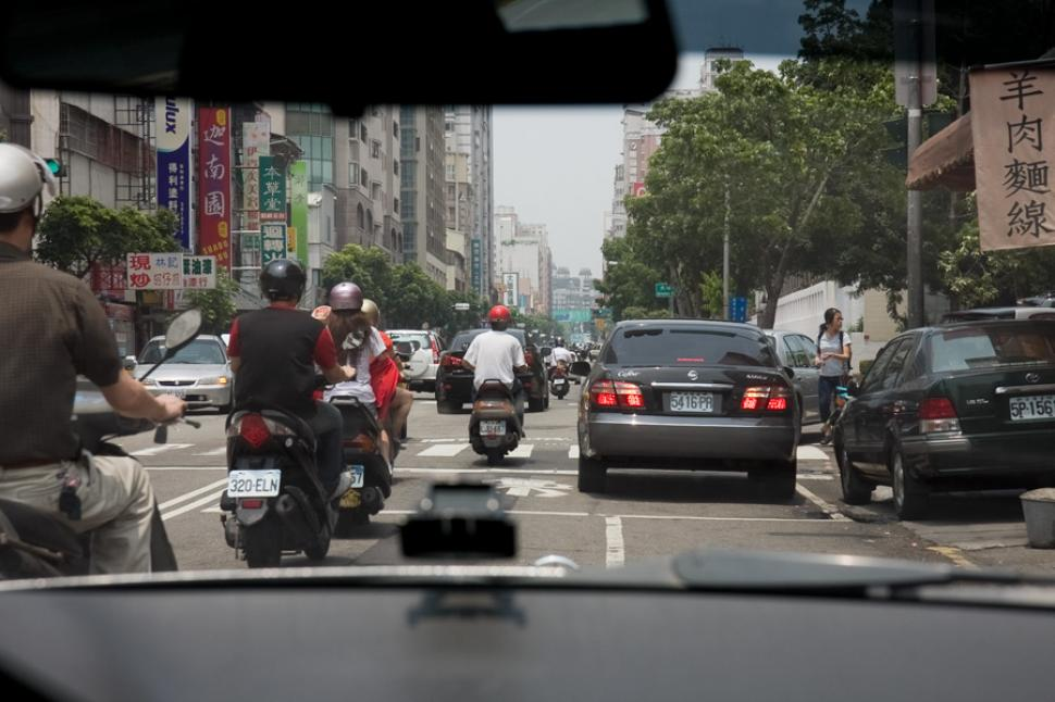 Scooters in Traffic