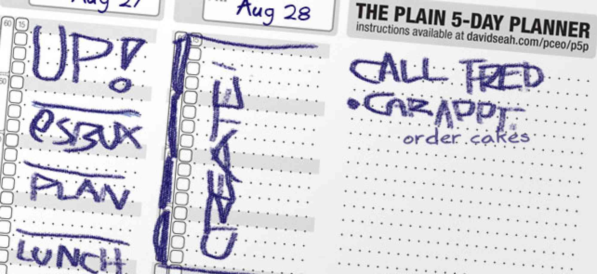 """The Plain Old 5-Day Planner"""