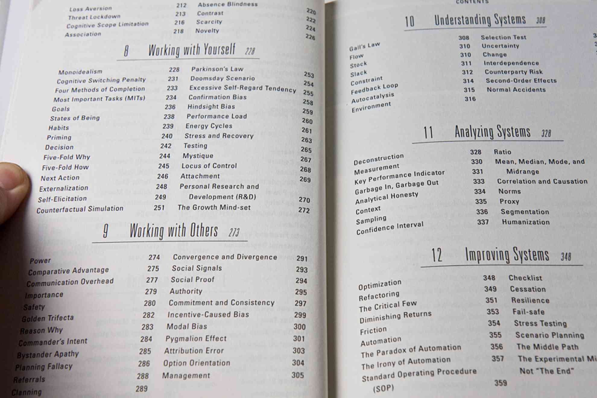 Table of Contents of The Personal MBA