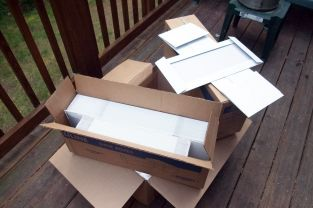 Uline Boxes - Flat-packed, ready to turn into boxes!