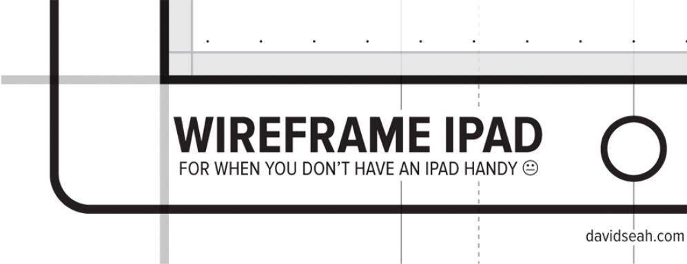 """Wireframe iPad Template"""
