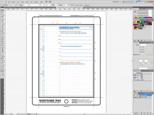 Wireframe iPad Template Underlay