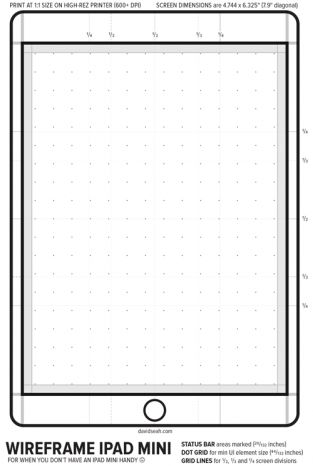 iPad Mini Design Template