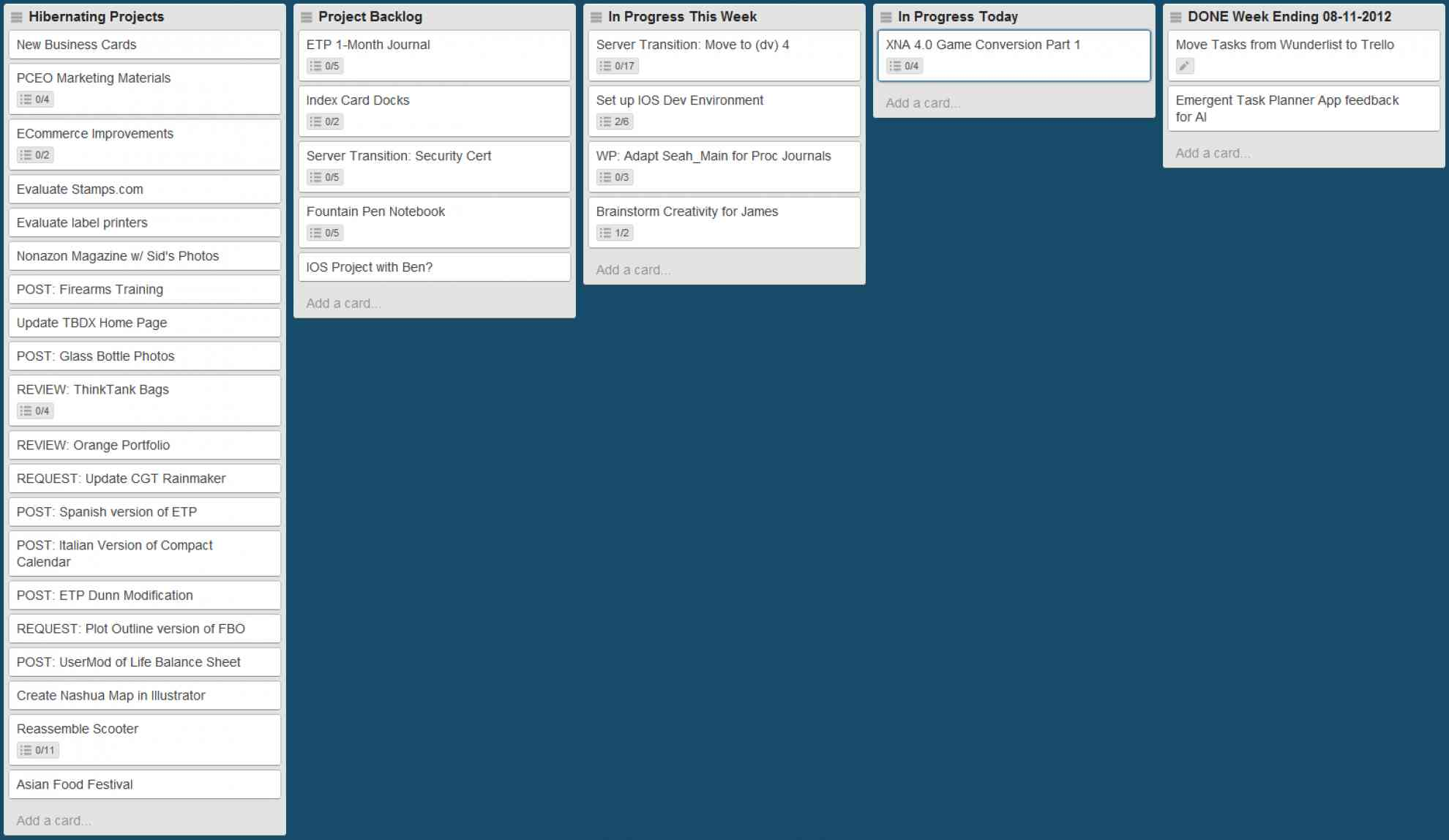 Trello w/ Tasks, Pass 2