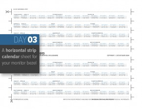 Horizontal Strip Calendar 2013