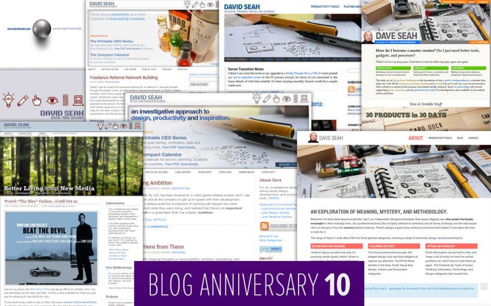 Dave Seah's Blog is 10 Years Old!
