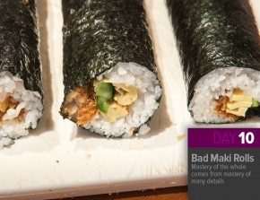 "��""Nov 10: Bad Futomaki Rolls"