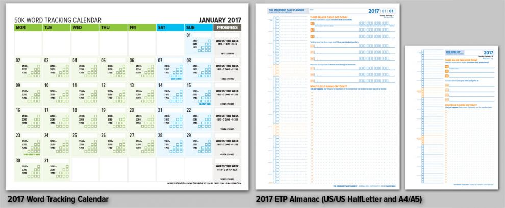 Word Counting Calendar and ETP Journal