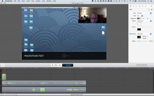 Screenflow Edit has a similar appearance to Camtasia Edit, but the controls and editing is a little less obvious