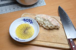 Pizza Bread and Olive Oil