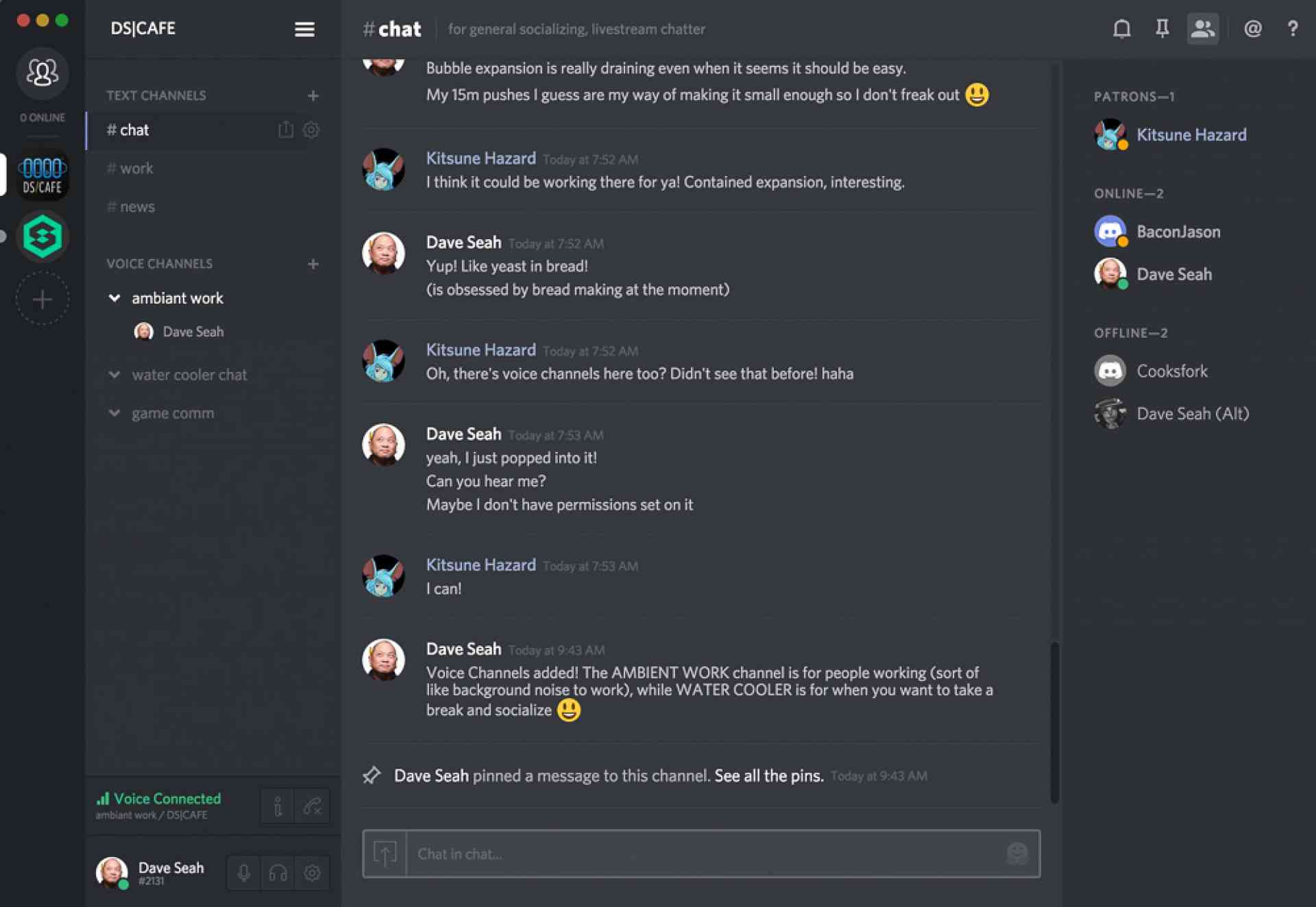 Dave's Discord Chat Room