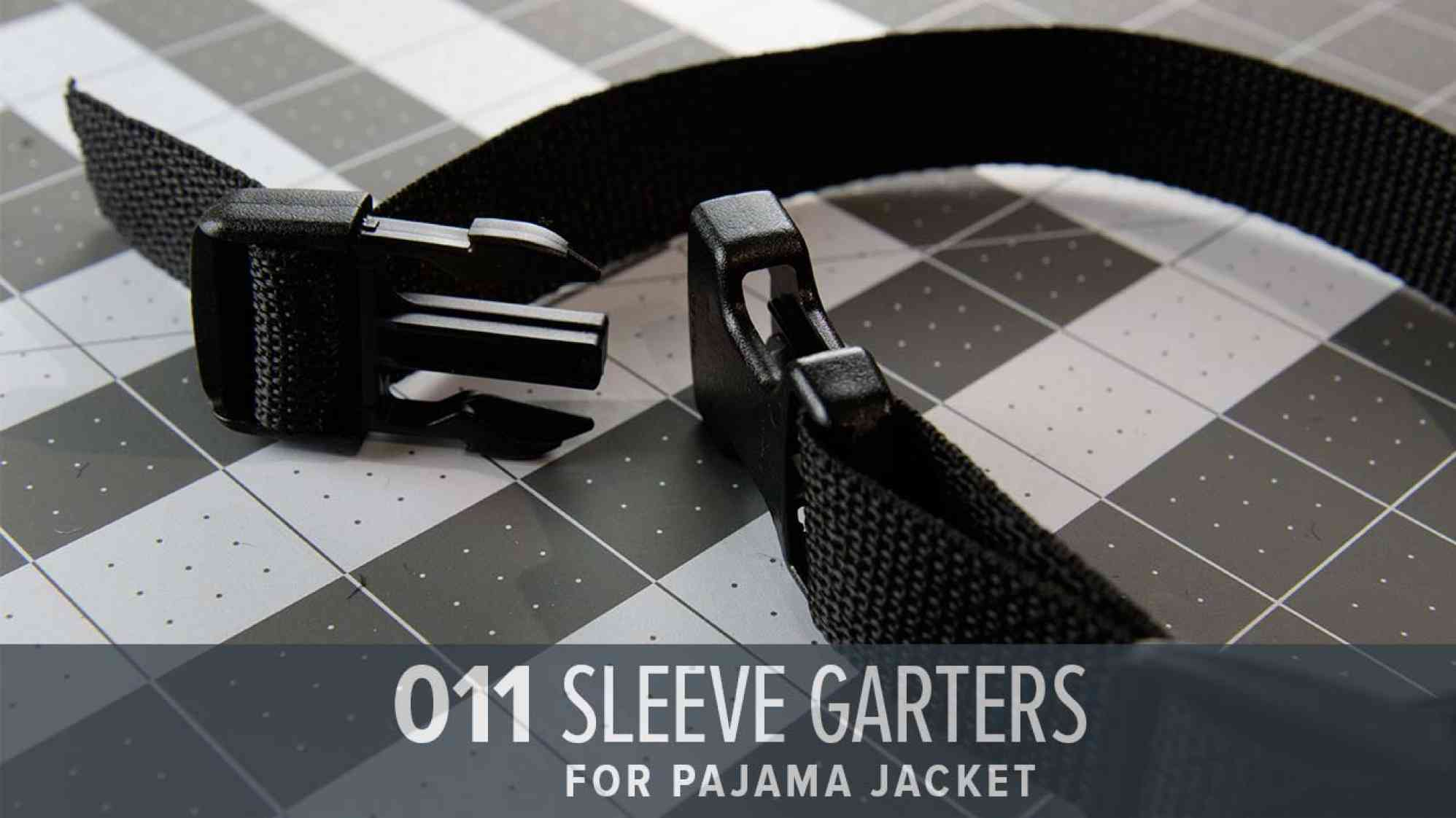 """Sleeve Garters made from Webbing"""