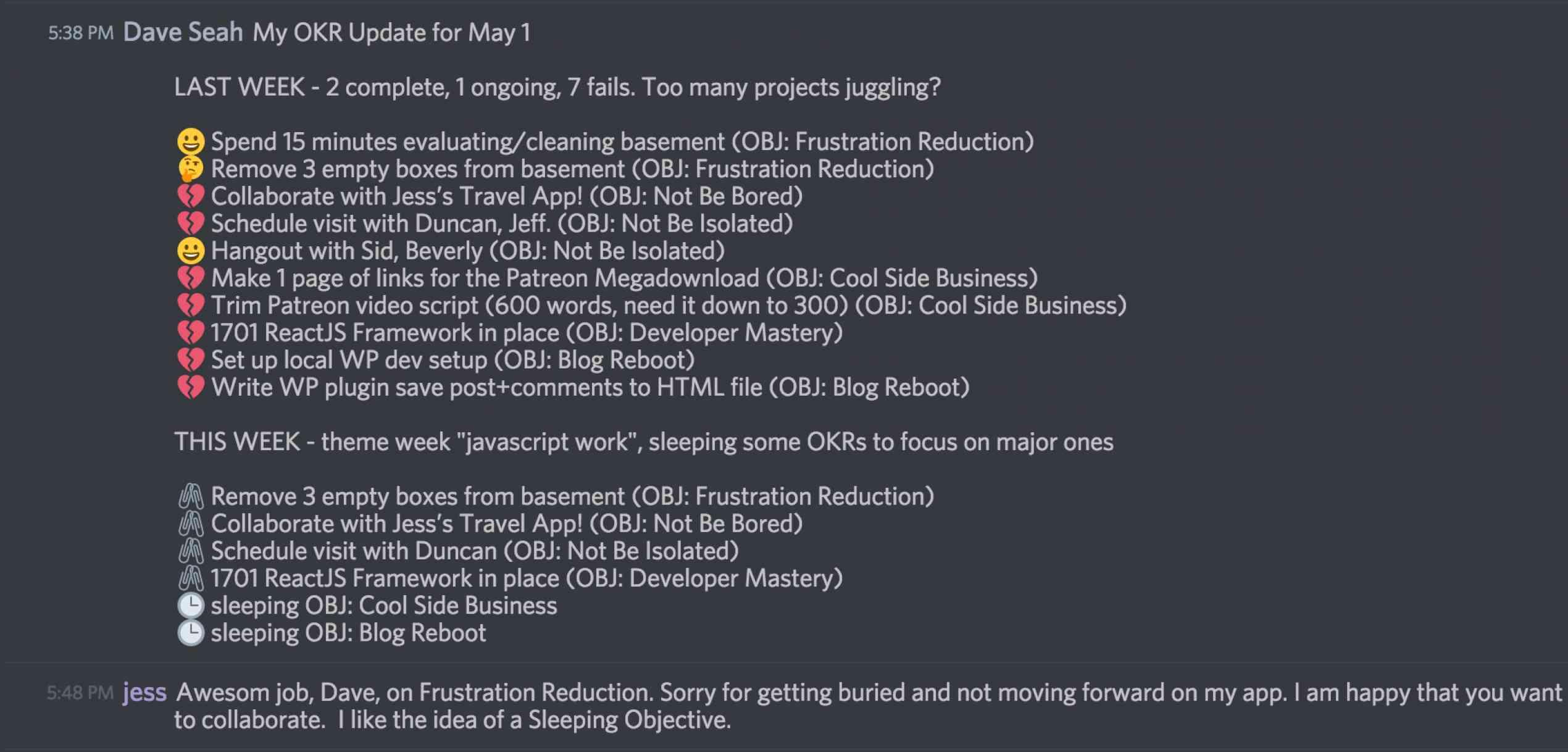 Objective&KeyResults