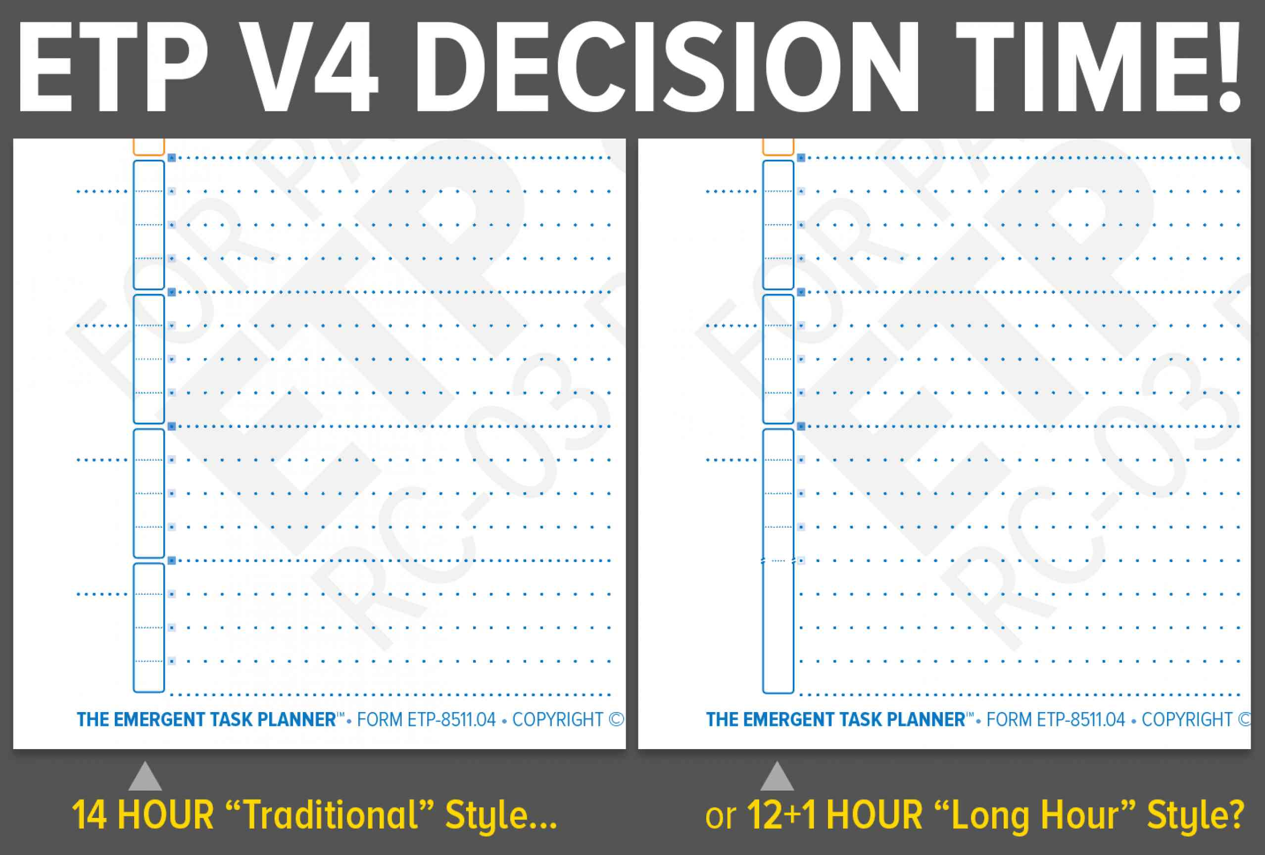 """Comparison of Regular versus Long Hour version of ETP"""