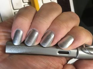 Silver Nail Polish with Pen