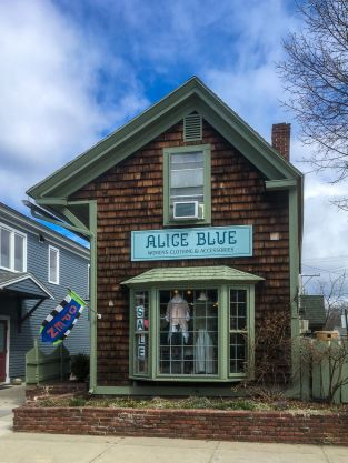 Outside Alice Blue Boutique