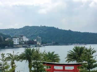 View of Sun Moon Lake from the cable car station
