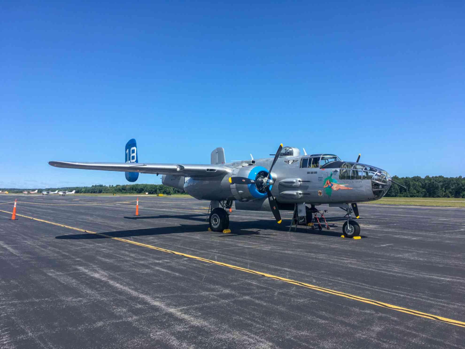 visitingaMitchellB-25Jbomber