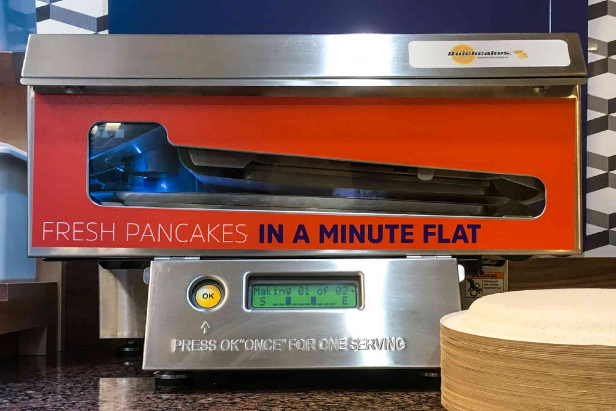 'Pancakes in a Minute' seen at a Holiday Inn Express