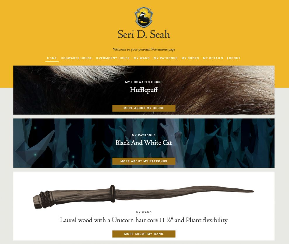 Sorted as Hufflepuff via Pottermore