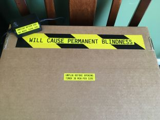 UV Disinfectant Box Warning