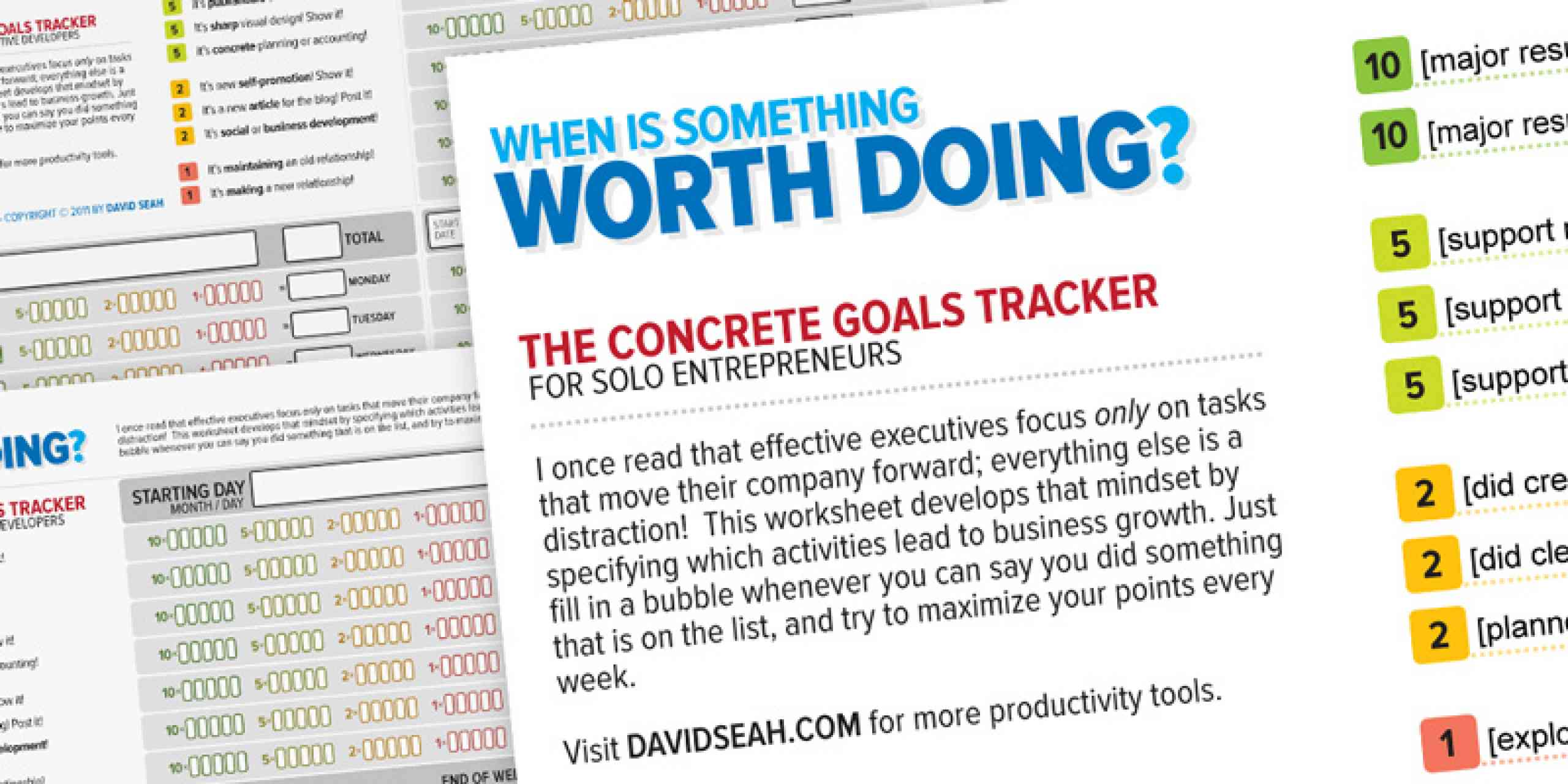 Concrete Goals Tracker
