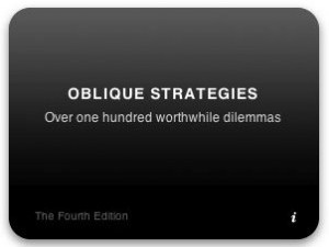 Oblique Strategies: The Dashboard Widget