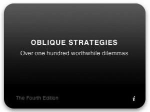 Oblique Strategies: The Dashboard Widget