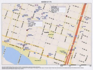Party Maps for SXSWi 2006