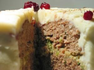 Thanksgiving Turkey Meat Layer Cake!
