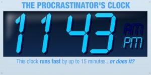 A Chindogu Clock for Procrastinators