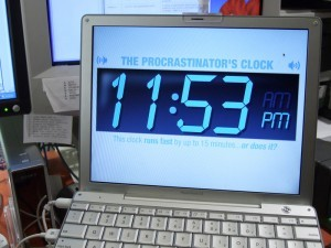 The Procrastinator's Clock: Desktop Editions