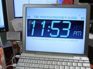 The Procrastinator's Clock: Desktop Editions