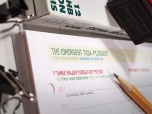 Update on Pre-Printed Emergent Task Planner Pads