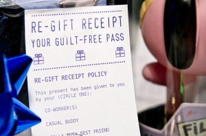 "Print Your Own ""Re-Gift Receipts"""