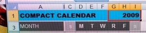 Compact Calendar 2009 Update