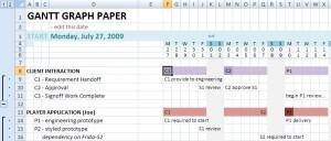 Update to Manual Gantt Chart Excel Spreadsheet