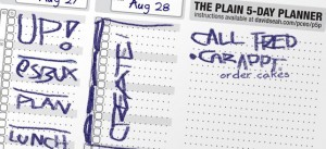 The Printable CEO IX: The Plain Old 5-Day Planner