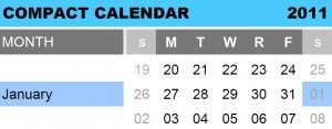 New Version of the Compact Calendar for 2011