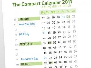 USA Compact Calendar 12-PDF Pack