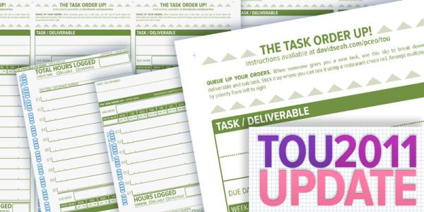 2011 Task Order Up! Updates