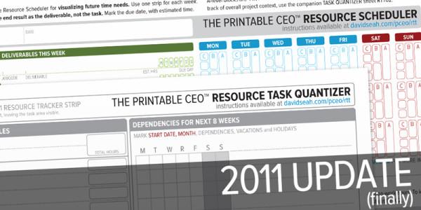 2011 Resource/Time Tracker Updates