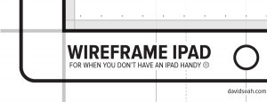Wireframe Template for iPad Screen Design