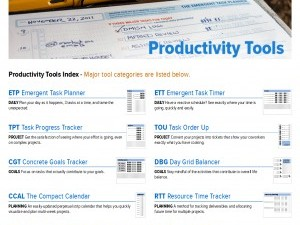 Improved Productivity Tools Page