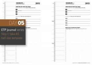 Day 5: ETP Journal Step 2 – A5 Mini B&W