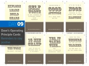 Day 9: Operating Principle Cards