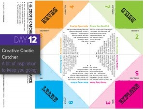 Day 12: A Cootie Catcher for Creative Self-Reliance